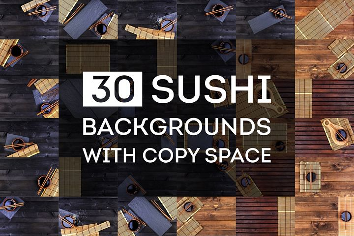 Sushi backgrounds collection