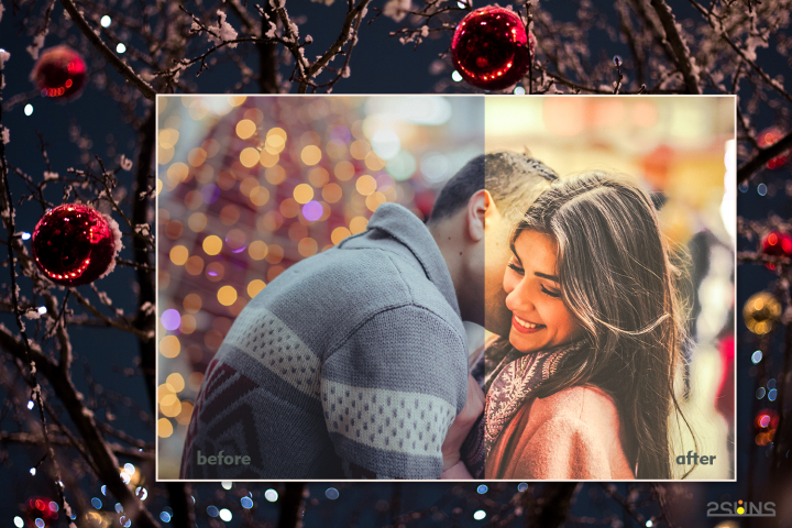 Christmas presets, winter lightroom instagram dng pc mobile example image 8