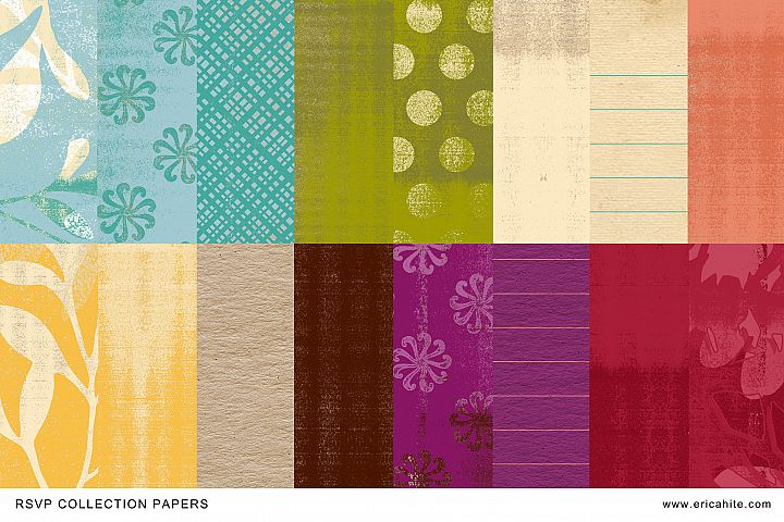 RSVP Digital Scrapbooking Papers and Bonus Paper Mini