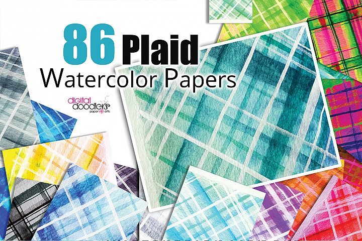 Plaid Watercolor Papers