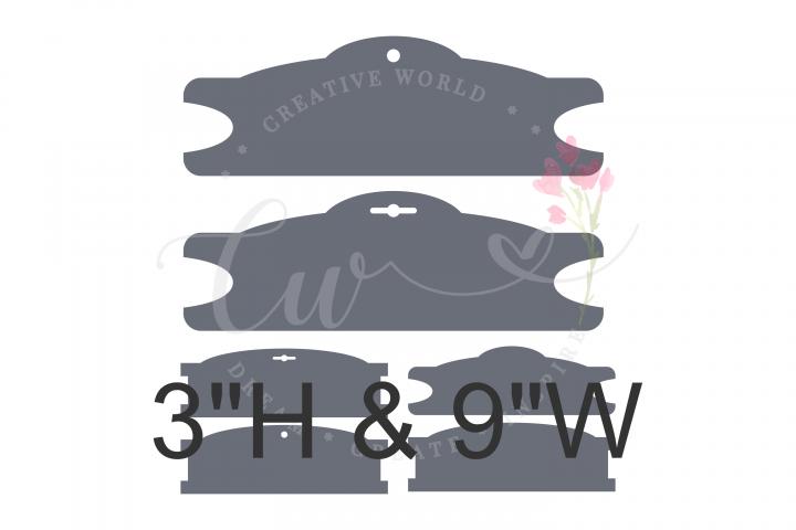 6 Templates 3 X 9 Headband Hair Bow Display Card | BDC022