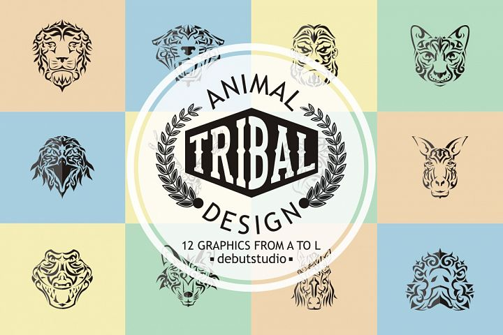 Animal Tribal Design | from A to L