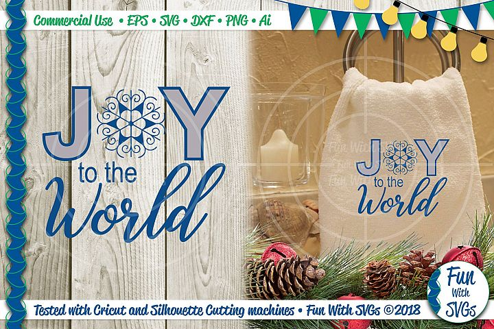Joy to the World Christian SVG File, Christmas Decor
