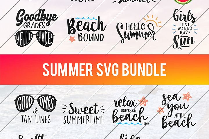Summer SVG - Beach SVG - Summer Bundle SVG - Vacation svg