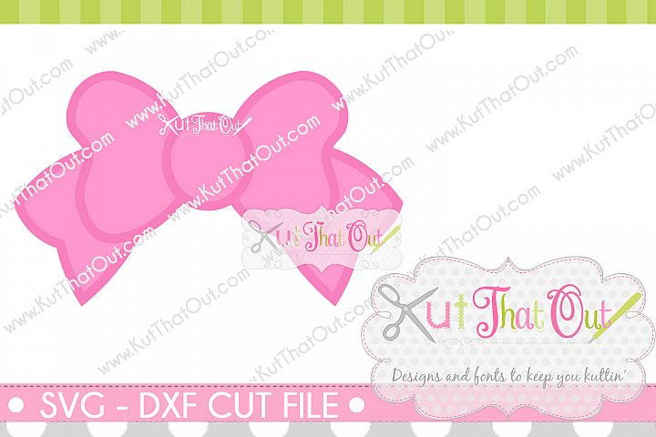 Bow Monogram Font Frame SVG & DXF Cut File