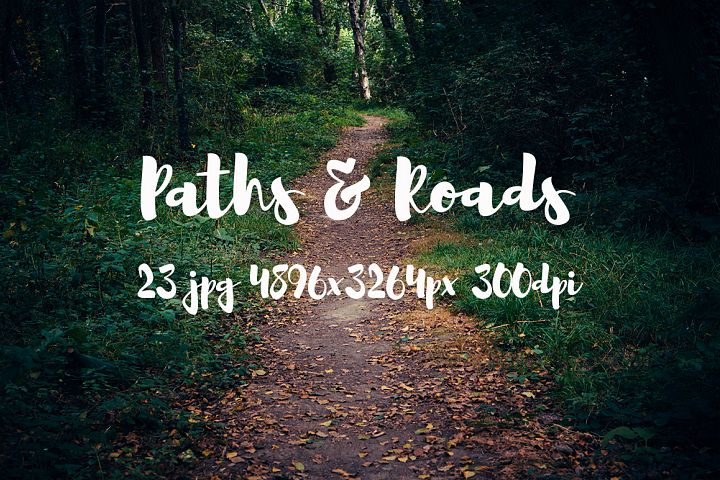 Paths and roads photo pack