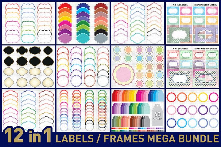 Labels Bundle Graphics and Illustrations / Frames Bundle