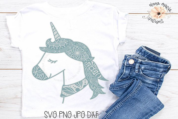 Unicorn Mandala Svg | Zentangle Svg and Cut File