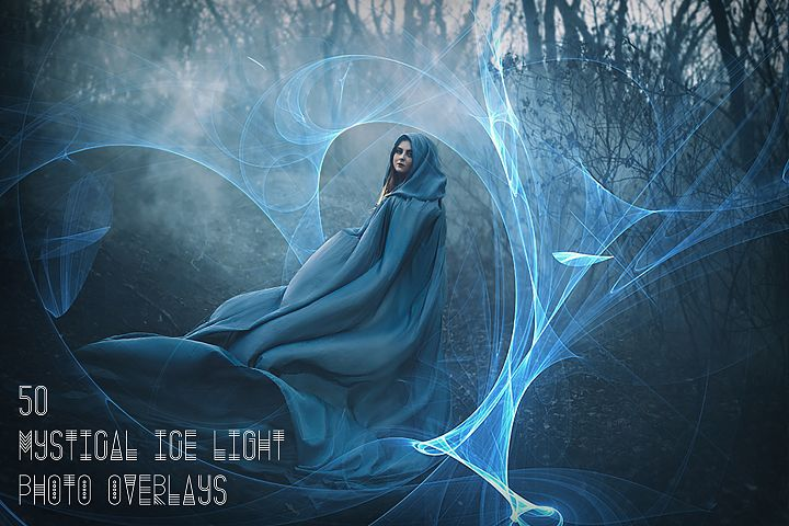 50 Mystical Ice Light Photo Overlays