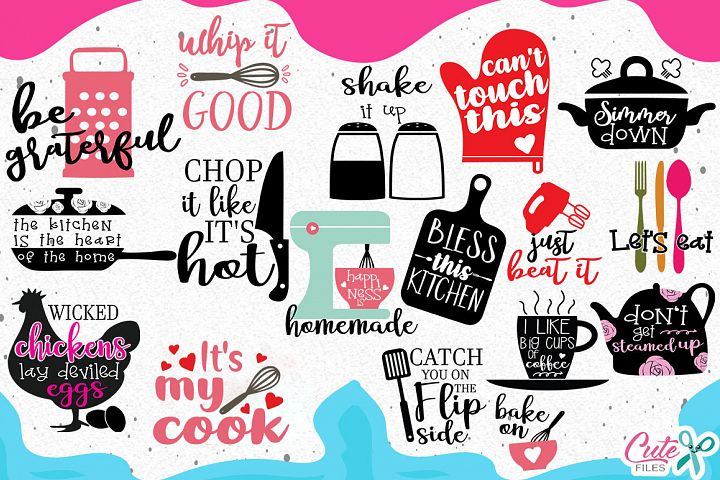 Kitchen bundle, cooking svg, my kitchen my rules