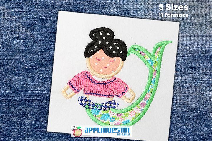 Little Mermaid Machine Embroidery Applique Design - Mermaids