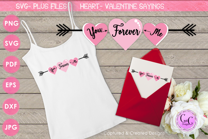 SVG Valentine Sayings-You, Me, Forever Cutting File