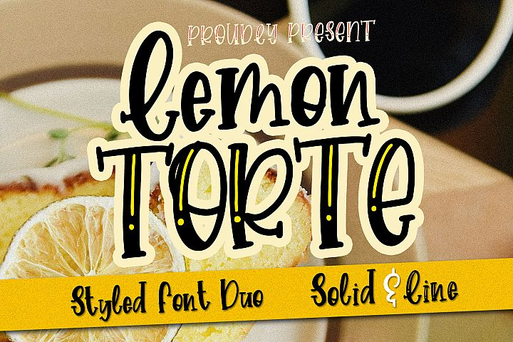Lemon Torte - Crafty Font duo Solid & Line