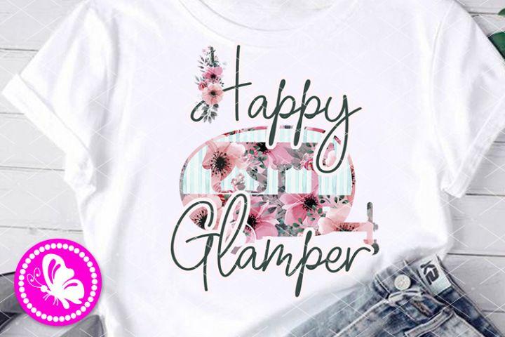 Happy glamper PNG Sublimation design Girls shirt Camper pdf