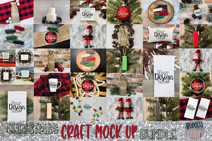 Christmas craft mock up bundle |High Res JPEG