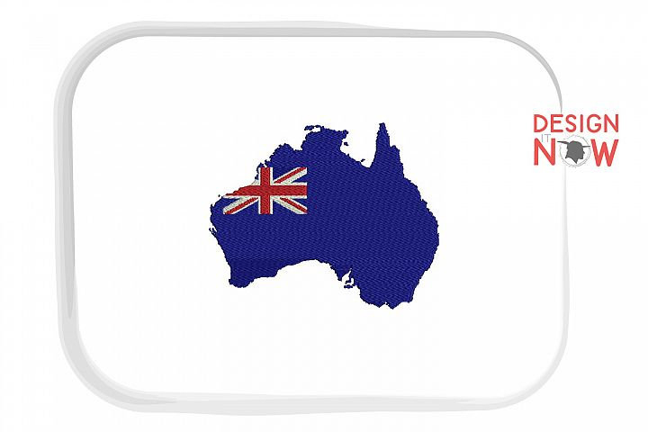 Australia Map Embroidery Design, Map Embroidery Design
