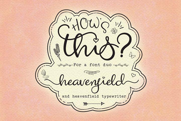 Heavenfield wedding font duo