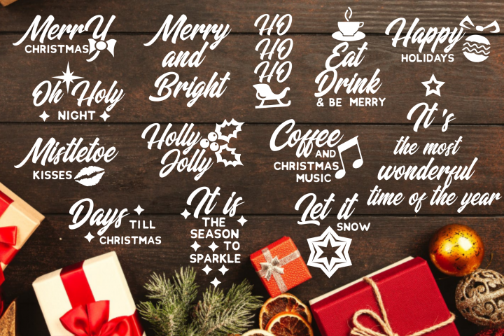 Christmas Quotes svg dxf eps png