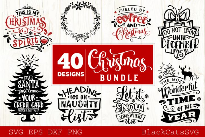 Christmas Bundle SVG bundle 40 designs vol 4