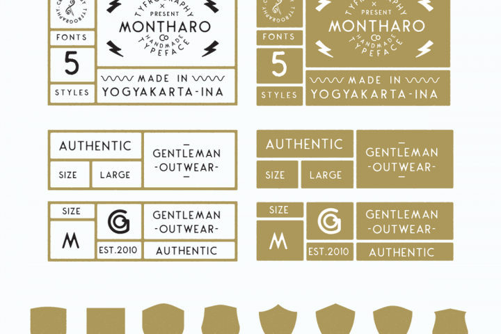 Montharo Typeface + Vector example image 11
