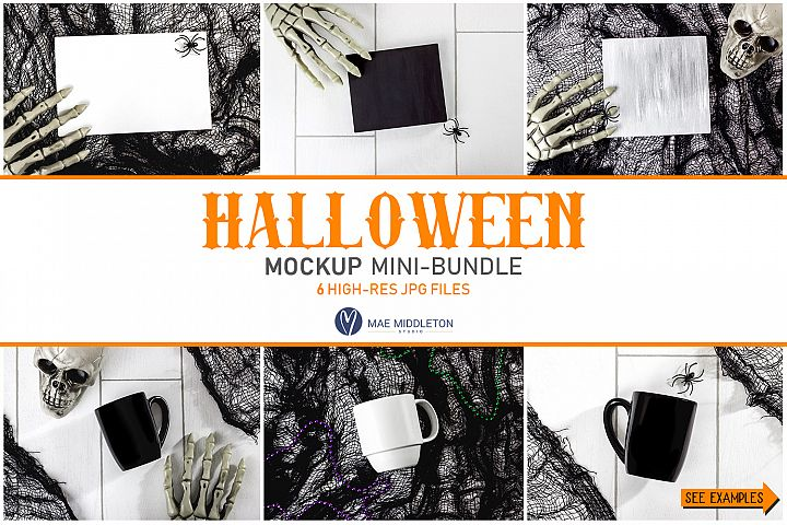 Halloween Mockups Bundle | 6 styled photos