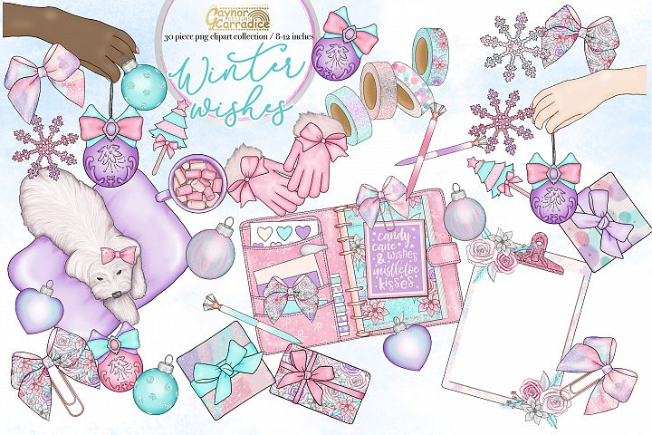 Winter wishes - Christmas planner clipart collection