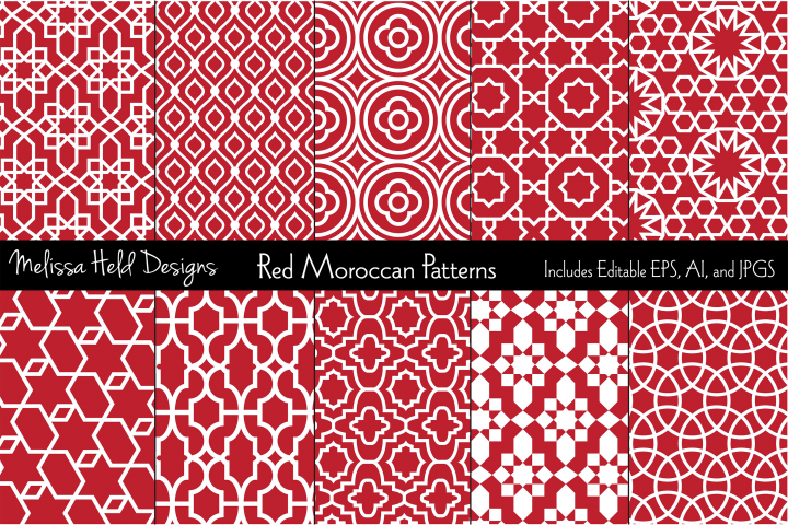 Red Moroccan Patterns