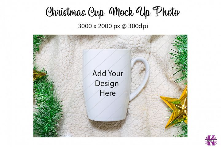 Christmas Coffee Cup Mock Up Photo