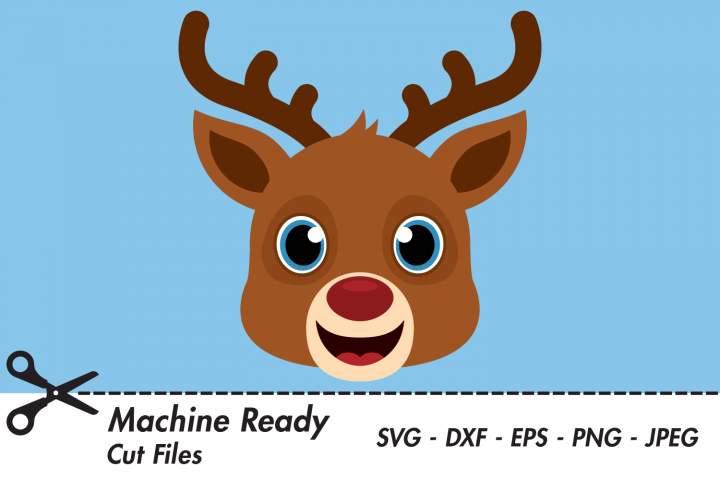 Cute Reindeer SVG Cut Files, Christmas, Winter Woodland