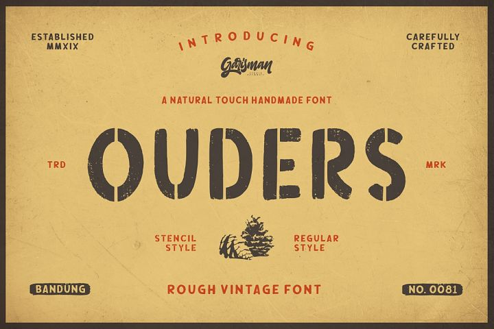 Ouders - Stencil & Regular Font