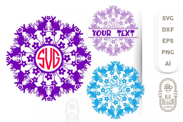 Mandala SVG & Mandala Monogram & Split SVG, Spring Mandala