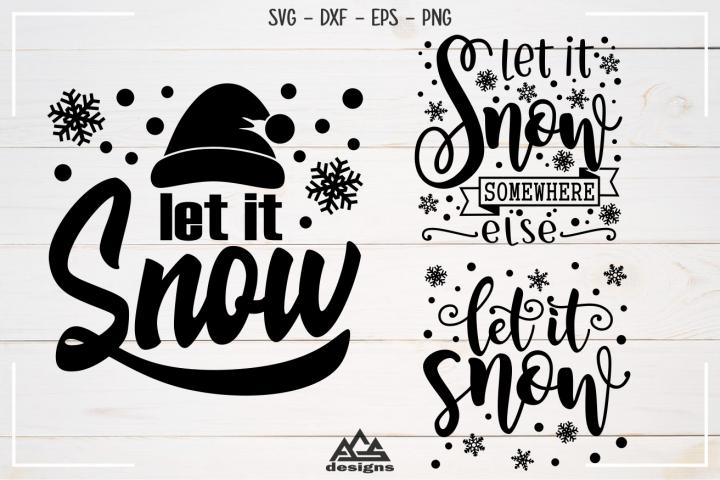 Let It Snow Winter Christmas Svg Design