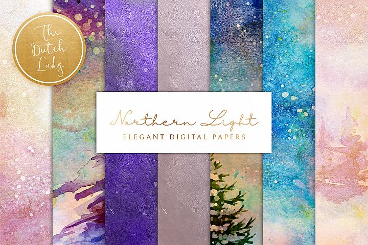 Digital Backgrounds & Papers - Northern Lights