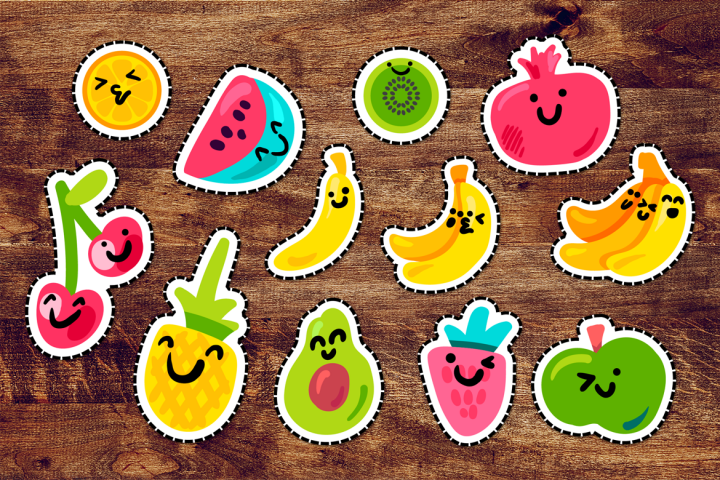 Happy Fruits Patches Set