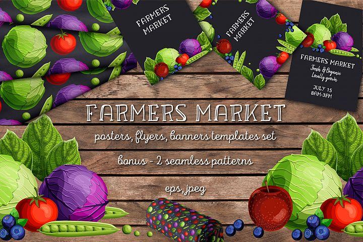 Farmers Market templates set
