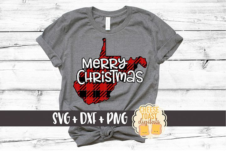 West Virginia - Buffalo Plaid State - SVG PNG DXF Cut Files