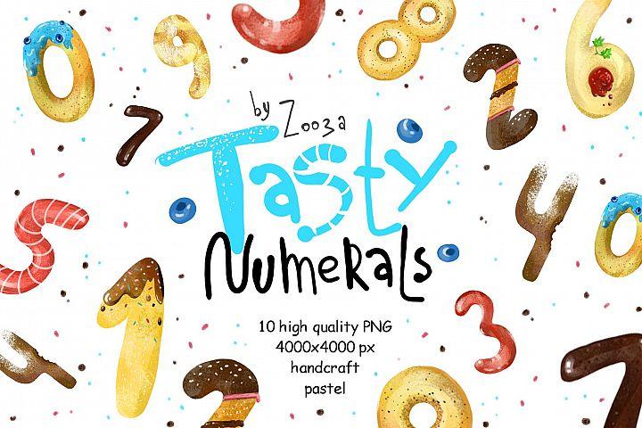 Tasty Numerals - 10 illustrations