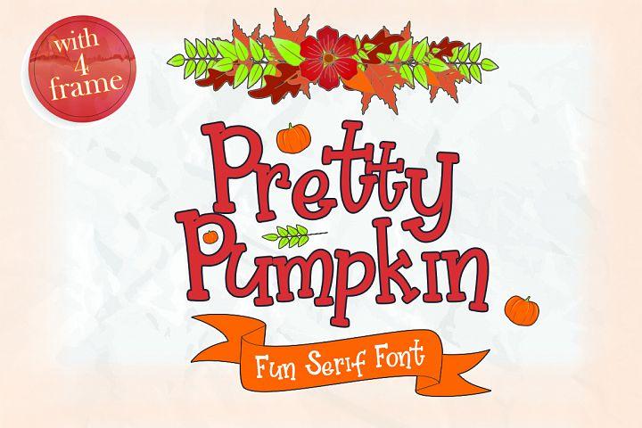 Pretty Pumpkin - Fun Serif Font with Frame