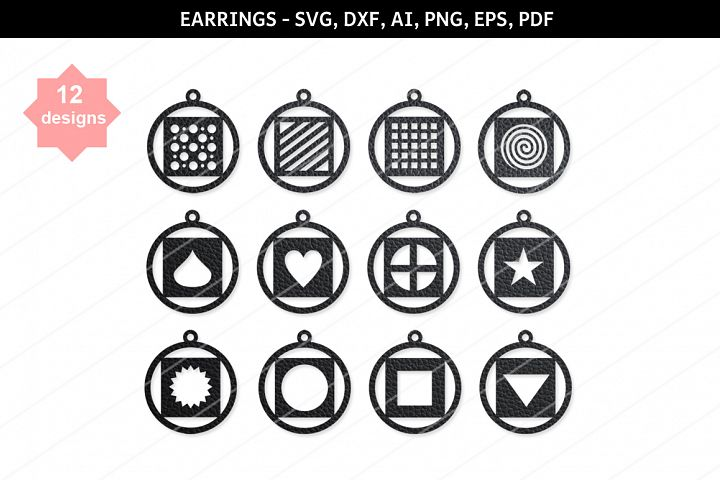 Heart earring,heart svg,Star svg,Cricut file,Earrings bundle