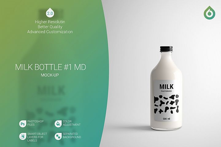 Milk Bottle MD Mock-Up #1 V2.0