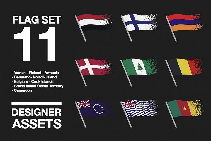 National Flag Vector AI and CDR Sparkle Vol. 11