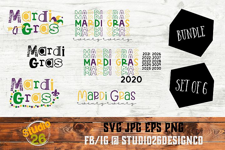 Mardi Gras Bundle of Bundles - 15 Options - SVG PNG EPS