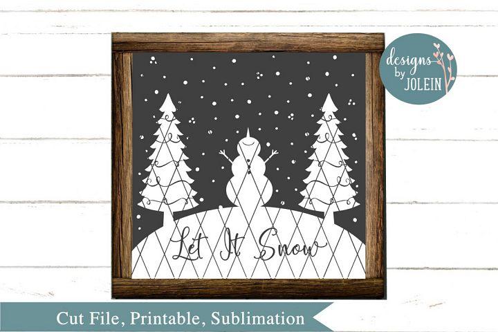 Let It Snow SVG, png, eps, sublimation, dxf, jpeg