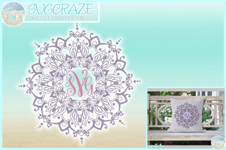 Hand Drawn Mandala Zentangle SVG Dxf Eps Png PDF