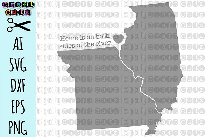 Mississippi River svg, Missouri Illinois State svg Files