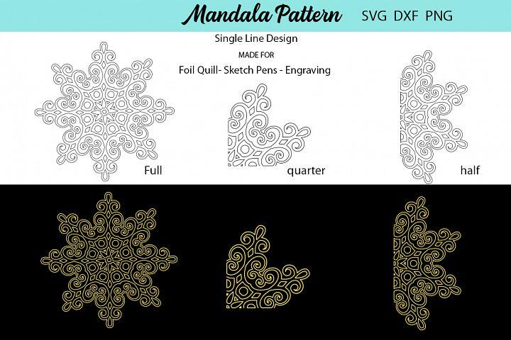 Mandala Single Line Design - Foil Quill