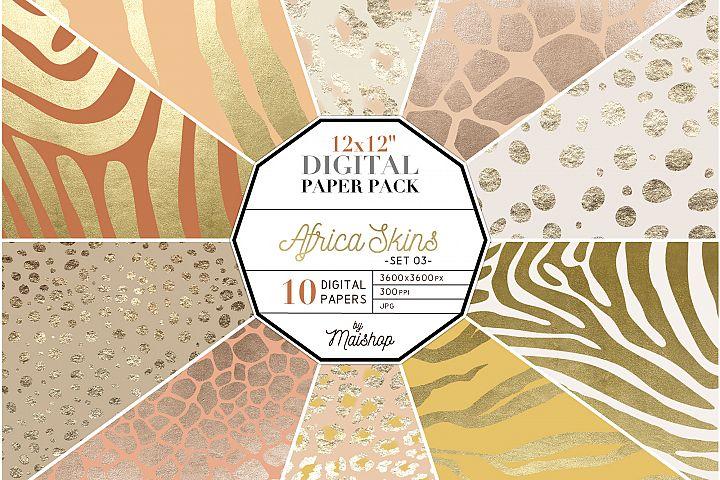 Digital Paper Pack Africa Skins Set 03