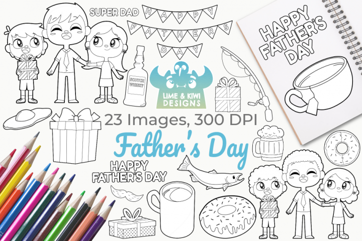 Fathers Day Digital Stamps