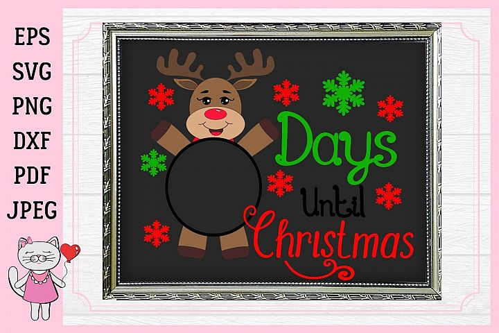 Days Until Christmas SVG, christmas countdown, Svg Cut Files