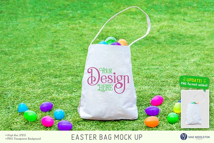 Easter Mockup - Bag / Tote for egg hunt - Updated!